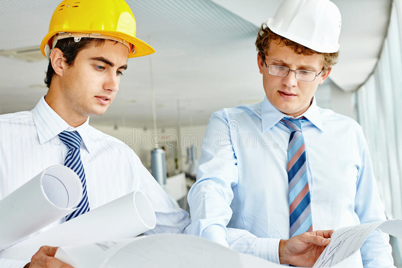 Engineers at work royalty free stock photo