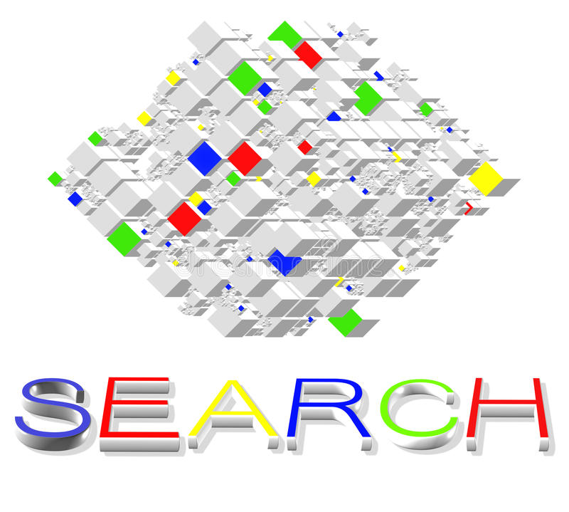 Engines de recherche sur l'Internet illustration de vecteur