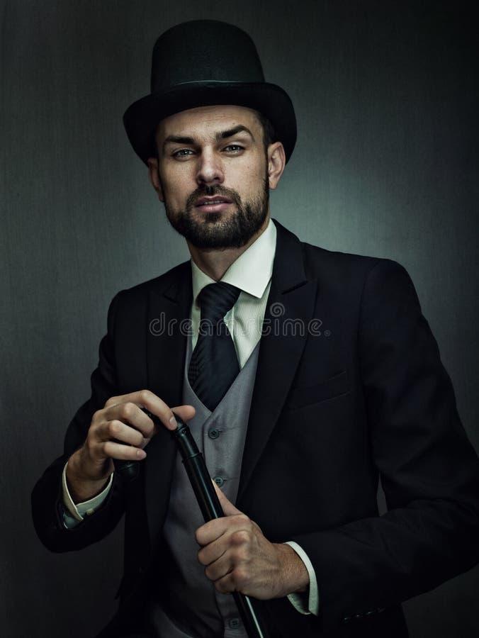 Engländerdetektiv Männliches Portrait stockfotos