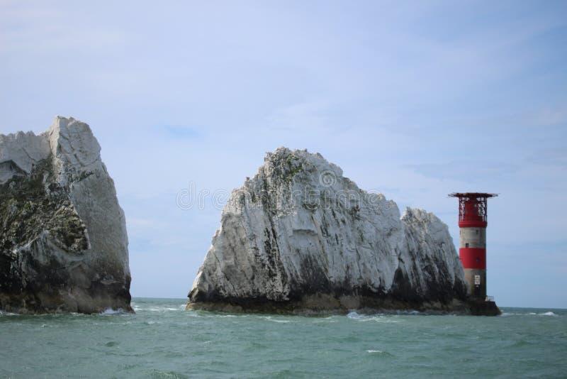 England ö av ljus, landskapet, havet, vaggar, det fantastiska stället royaltyfri foto
