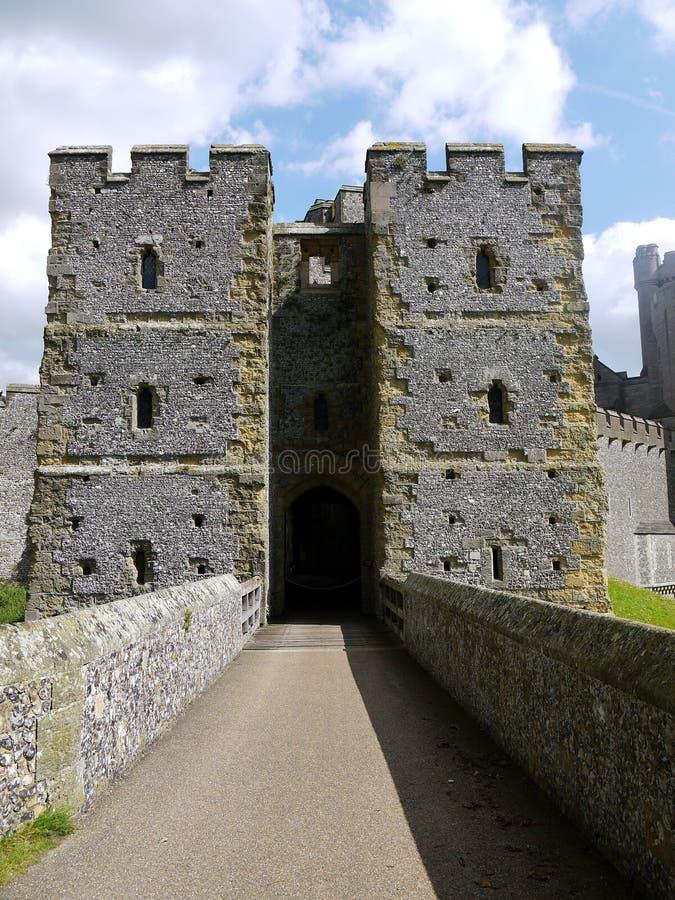 England: Arundel castle bridge royalty free stock photography