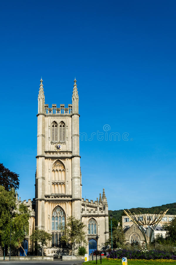 ENGLAND, BATH - 29 SEP 2015: St Mary The Virgin, Bathwick, Engli. Sh Church - Tower royalty free stock images