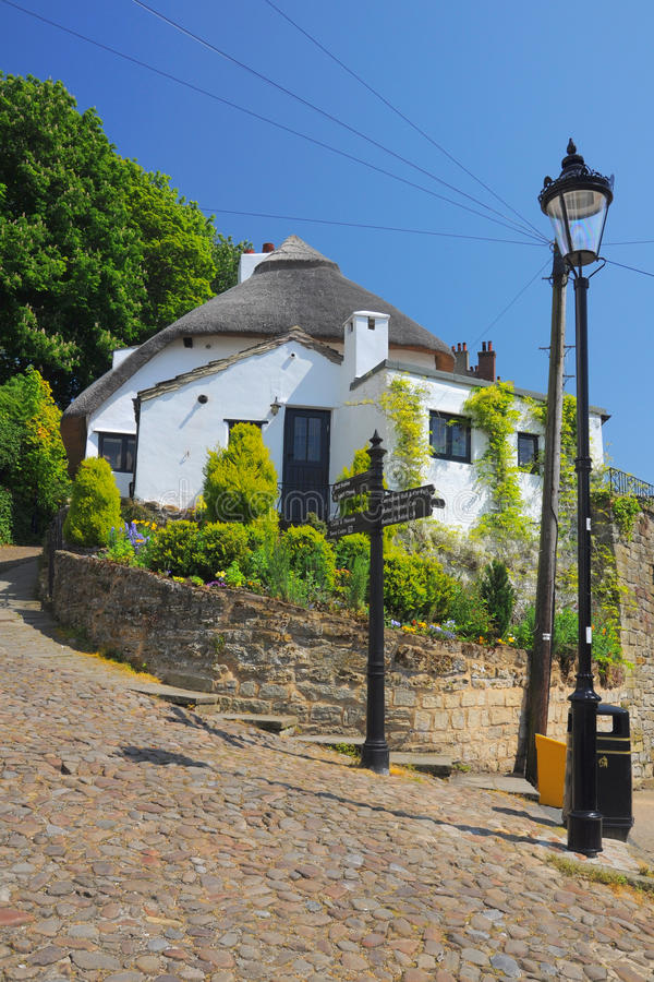 England Domowy Knaresborough Lampion Stary Obraz Royalty Free