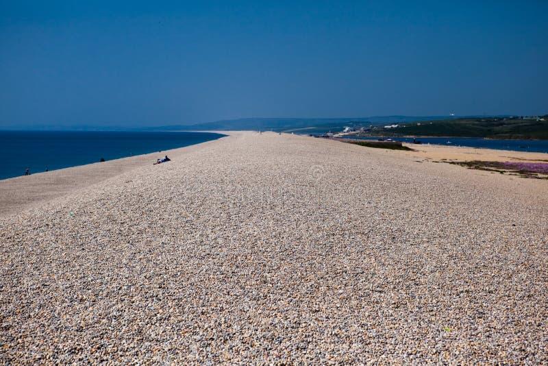 Chesil beach, Dorset, UK. England Dorset coast, Chesil beach stock photography