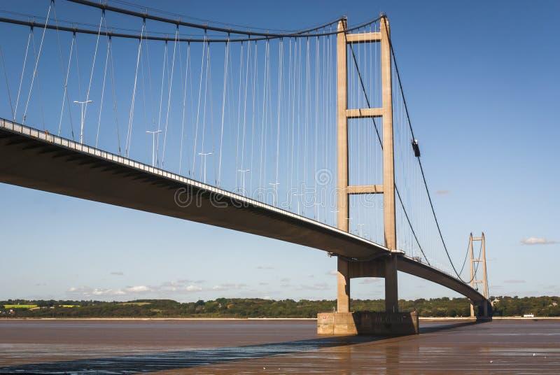 England. East Yorkshire. 2010. The Humber Bridge stock photography