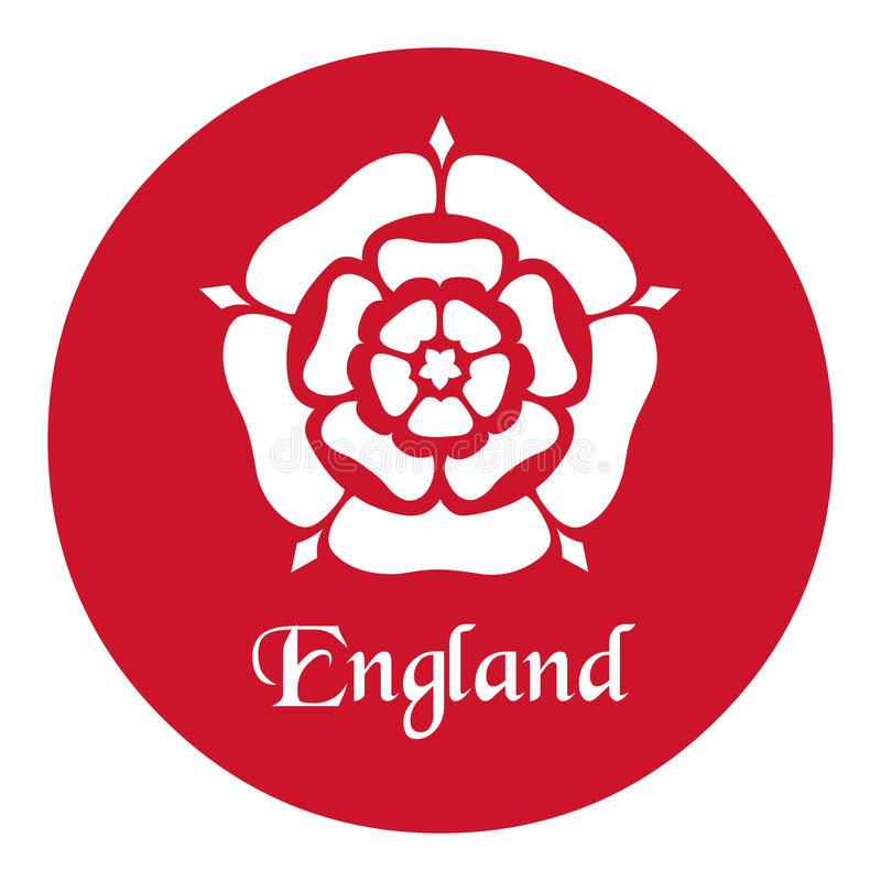 England emblem with the tudor rose on red stock vector download england emblem with the tudor rose on red stock vector illustration of national reheart Images