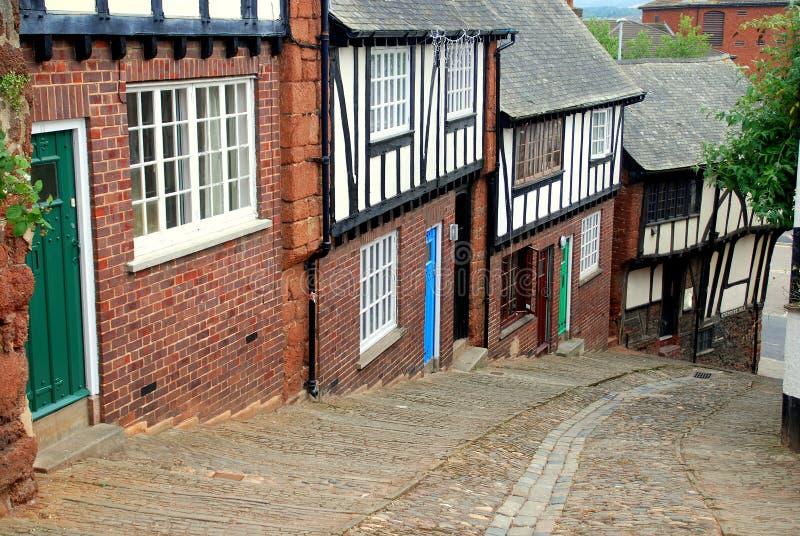 england Exeter wzgórza stepcote obrazy stock