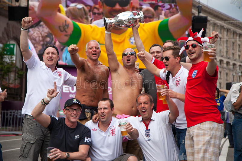 Download England Fans Arrive In The Fanzone Editorial Photo - Image: 25291346