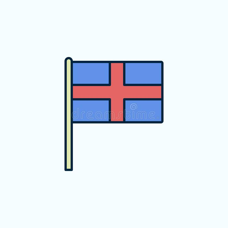 England flag 2 colored line icon. Simple colored element illustration. England outline symbol design from flags set on blue royalty free illustration