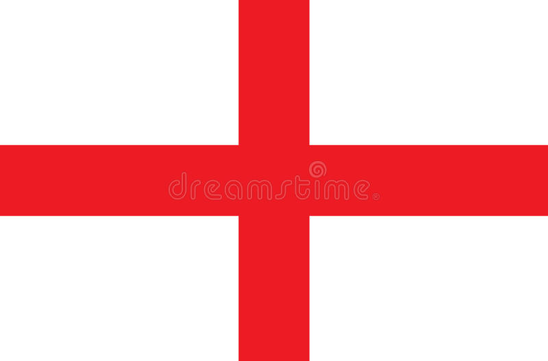 The England flag illustration.And vector background. royalty free illustration