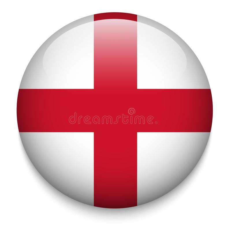 ENGLAND flag button royalty free illustration