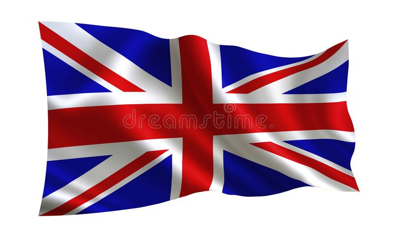 England flag. A series of `Flags of the world.` The country - England flag stock illustration