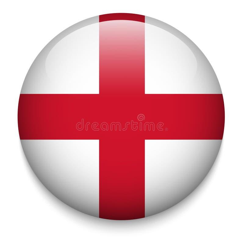 ENGLAND flaggaknapp royaltyfri illustrationer