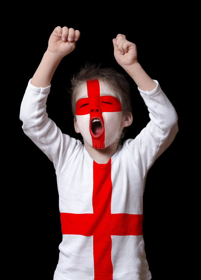England football fan royalty free stock image