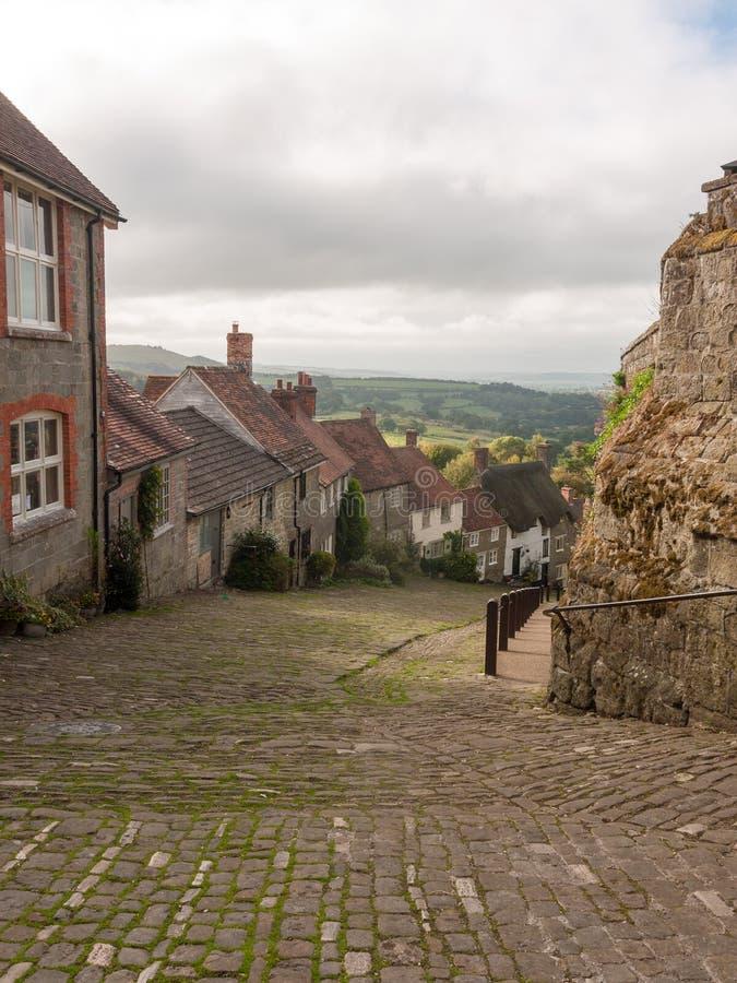 England-Gehwegweghäuschen des Goldhügels shaftesbury schönes altes lizenzfreie stockfotos