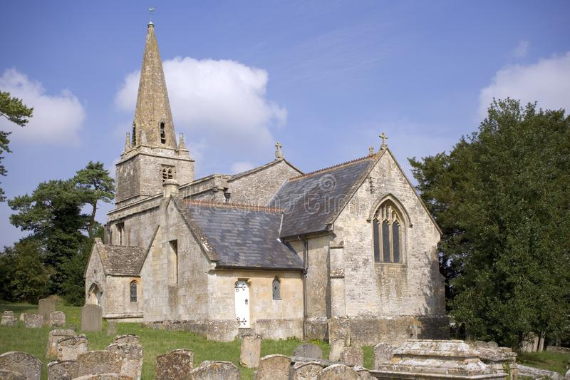 Country church. England, Gloucestershire, Cotswolds, Aldsworth, small rural country church royalty free stock image