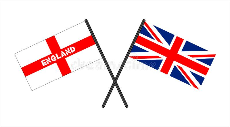 England great britain flags. Isolated image vector illustration