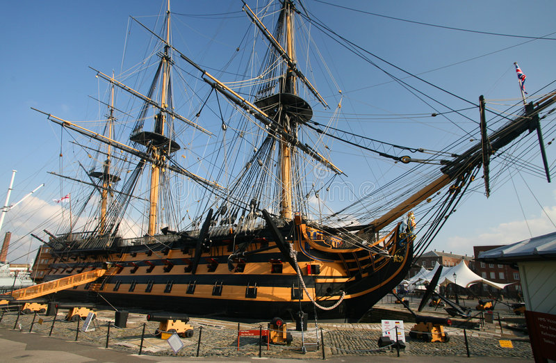 england harbour hms portsmouth victory στοκ εικόνες