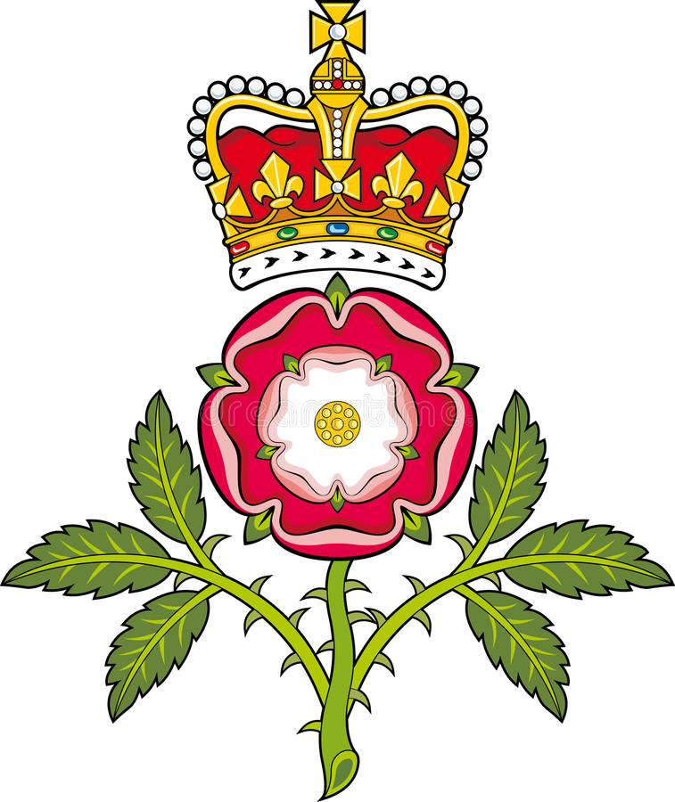 England.Heraldic托特皇家徽章上升了 向量例证