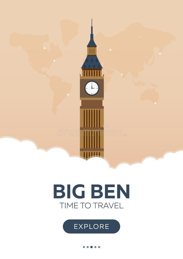 Download England. London. Big Ben. Time To Travel. Travel Poster. Vector Flat Illustration. Stock Illustration - Illustration of bicycle, bridge: 88261745