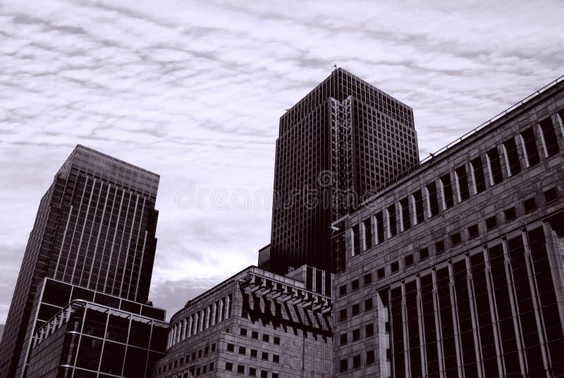 England London Docklands Canary Wharf Complex Stock Image