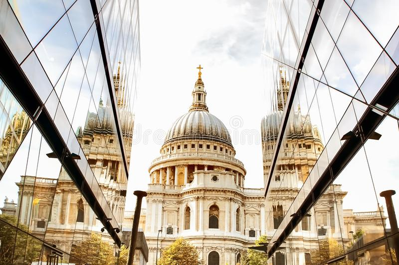 England London. St Paul`s Cathedral . Autumn royalty free stock images