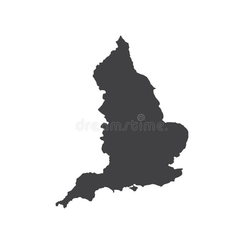 England map silhouette illustration vector illustration