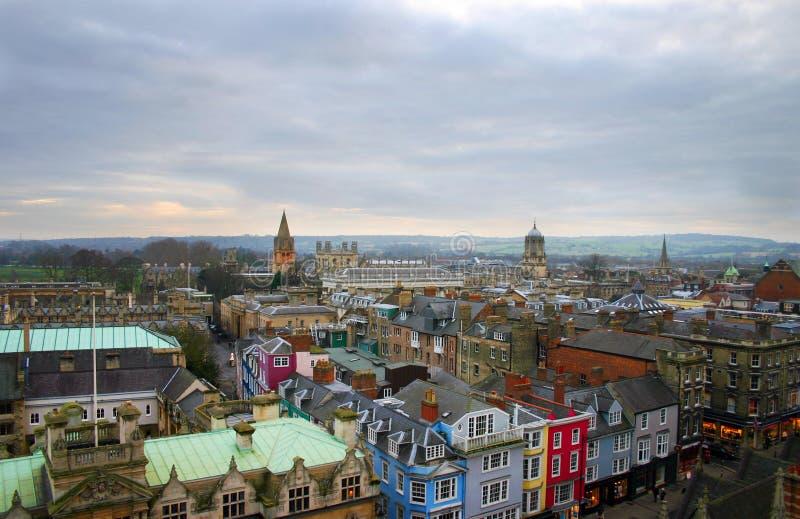 England miasta Oxford linia horyzontu zdjęcie stock