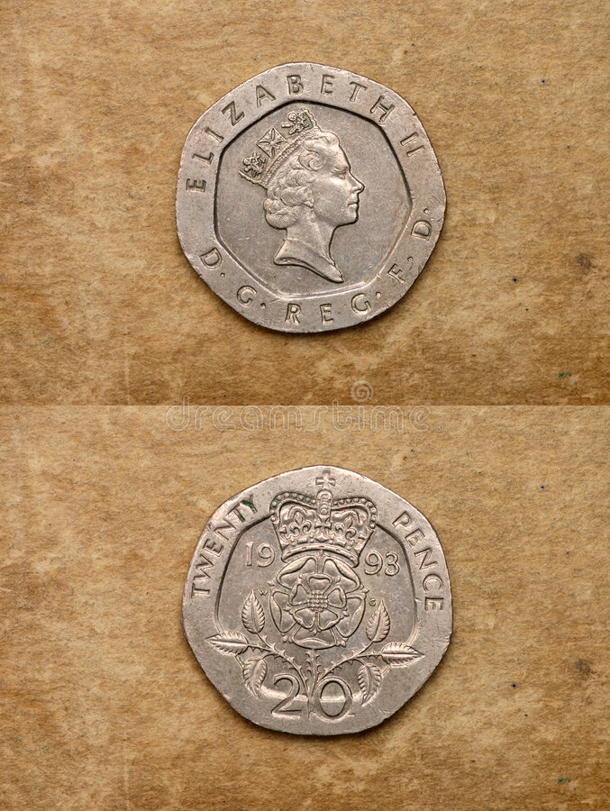 England monety serię świat obraz royalty free