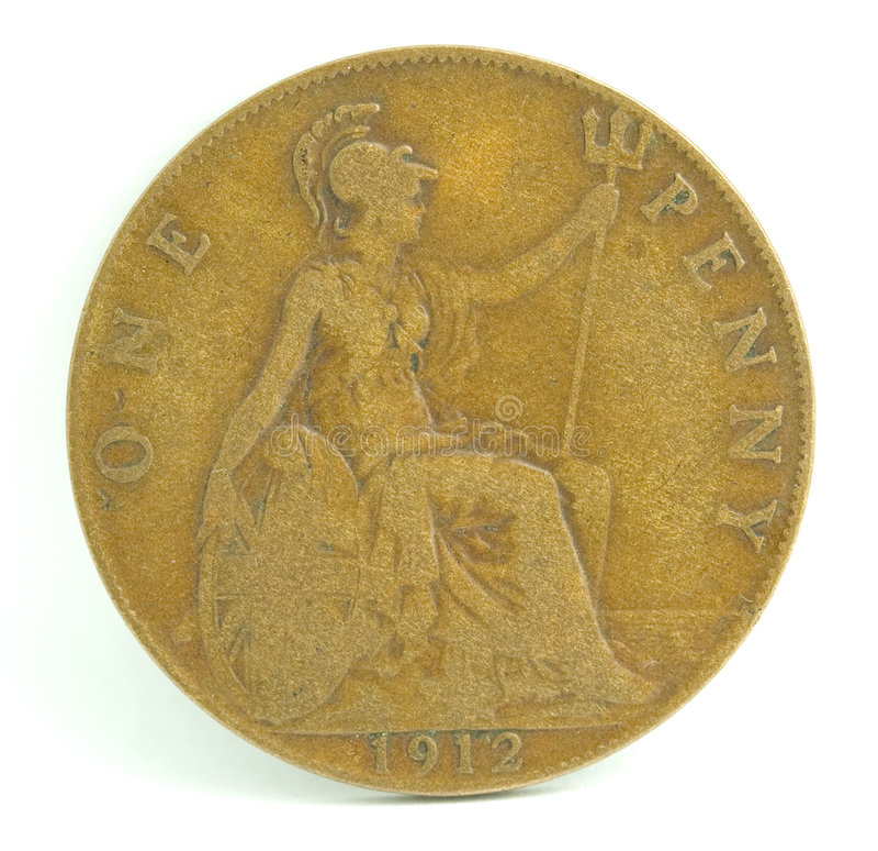 England Penny stock photo