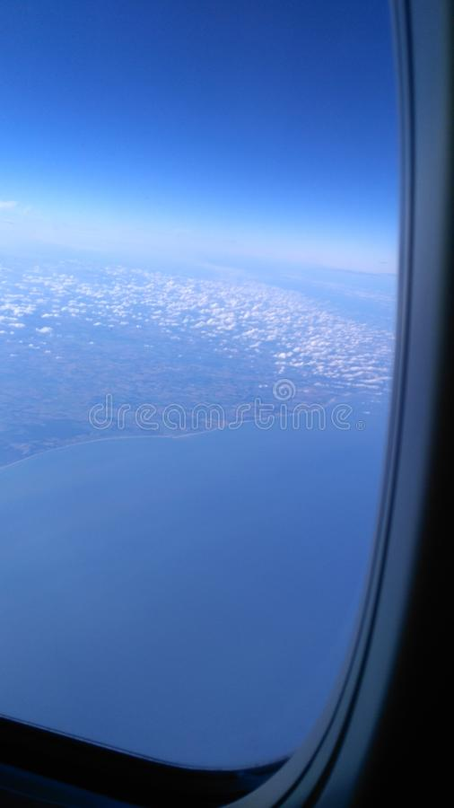 England and sea from plane royalty free stock images