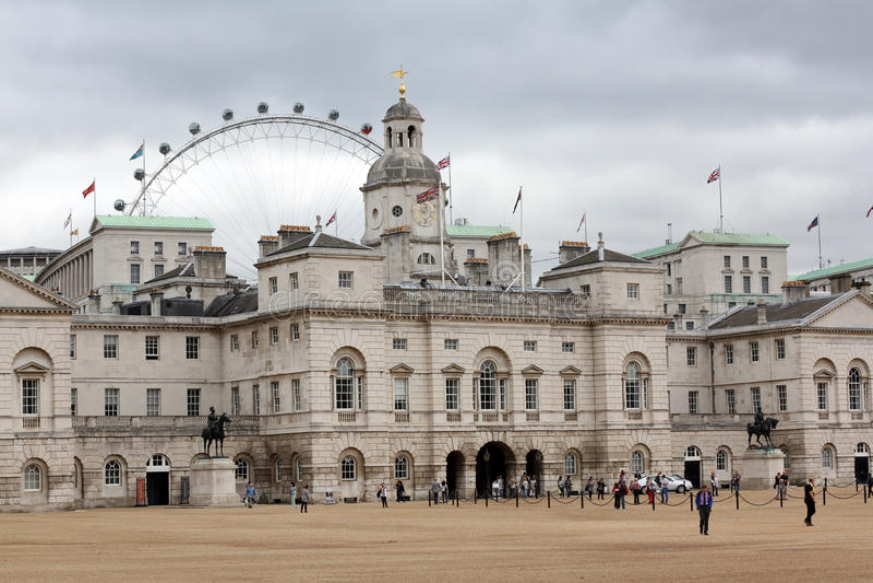 England Skydd Hästen Som London Ståtar Redaktionell Bild