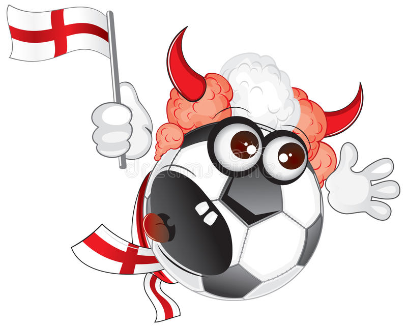 Download England Soccer Fan Shouting Royalty Free Stock Photos - Image: 14524918