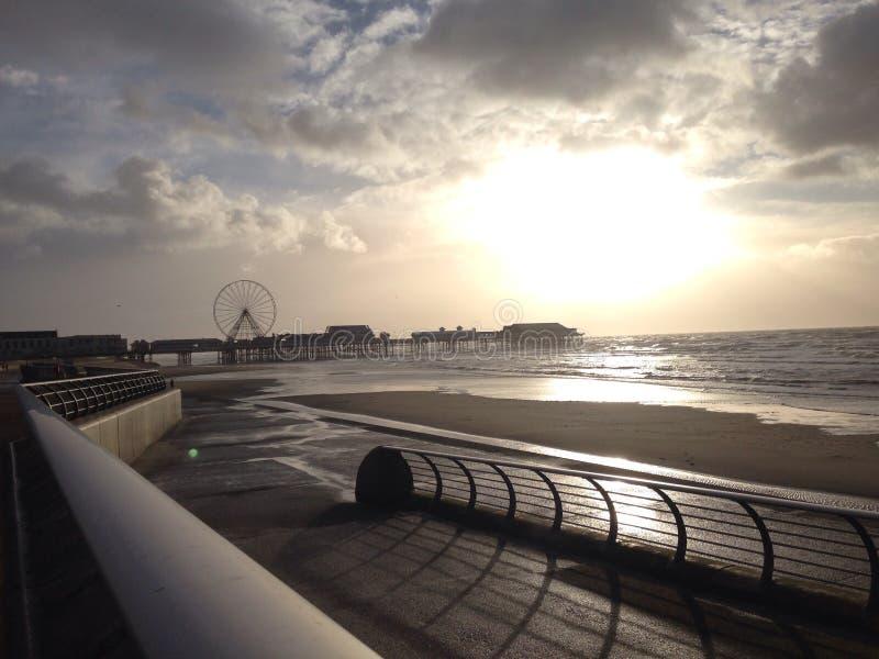 England strand fotografering för bildbyråer