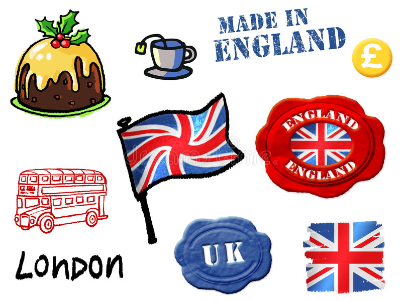 England symbols stock illustration