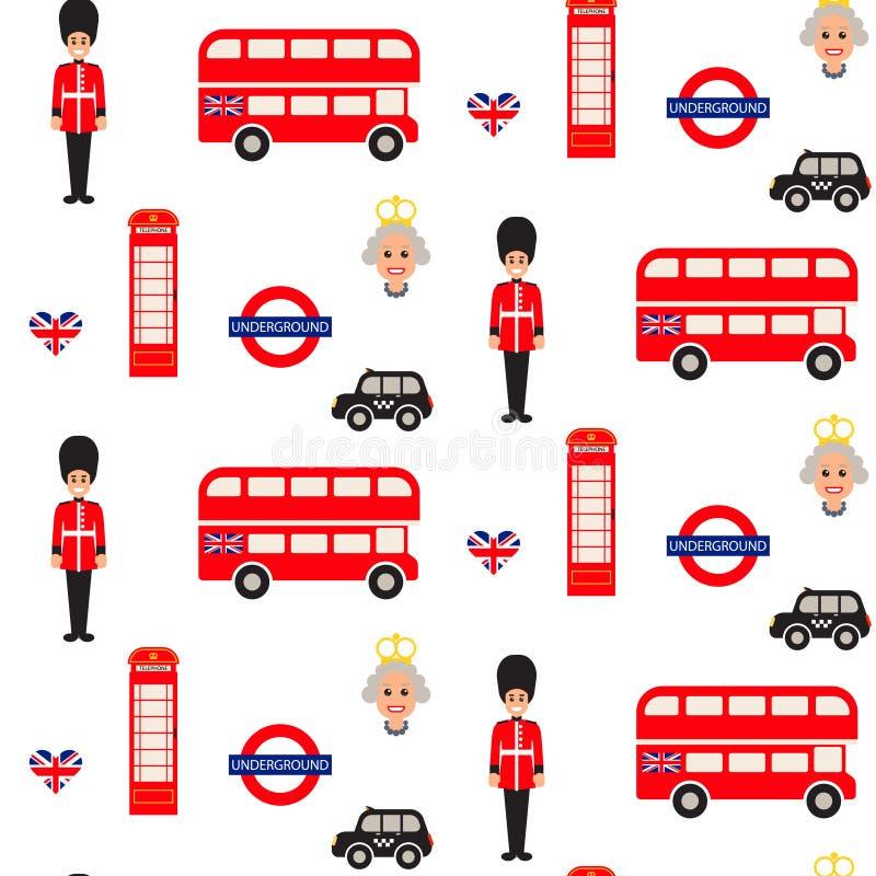 England Symbols Vector Seamless Pattern Editorial Image
