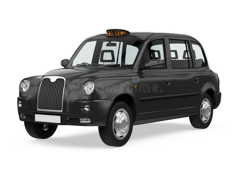England Taxi Cab Isolated royalty free illustration