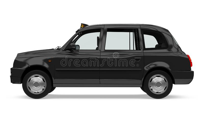 England Taxi Cab Isolated. On white background. 3D render stock illustration