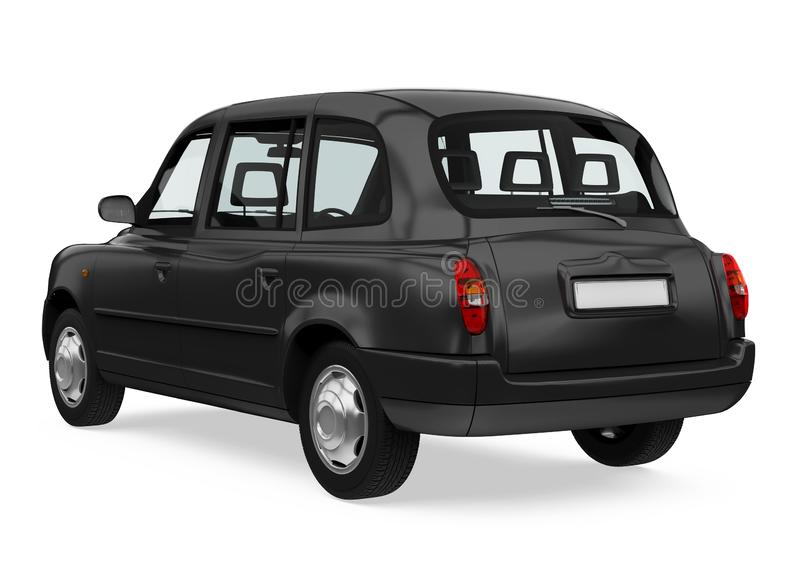 England Taxi Cab Isolated. On white background. 3D render vector illustration