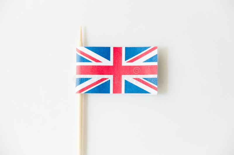 England UK paper flag on white background stock photography