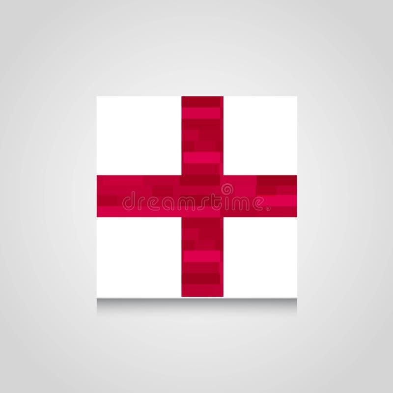 England United Kingdom Abstract Flag Background vector illustration