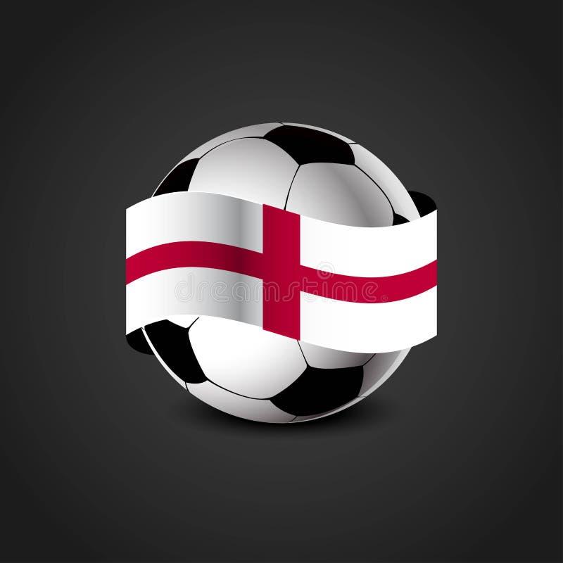 England United Kingdom Flag Around the Football stock illustration