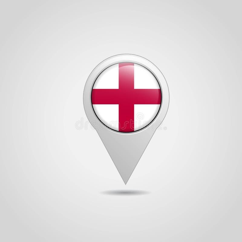 England United Kingdom Flag Map Pin stock illustration