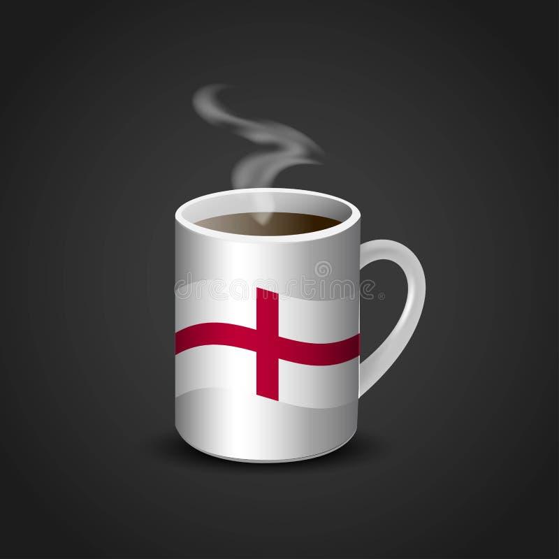 England United Kingdom Flag Printed on Hot Coffee Cup vector illustration