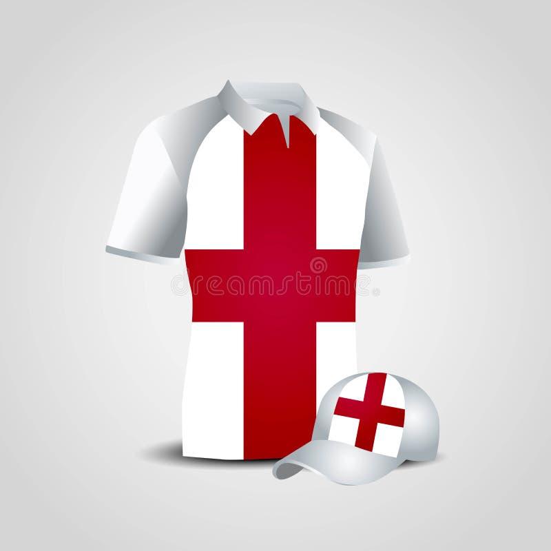 England United Kingdom Sports T-shirt and Cap Vector Design vector illustration