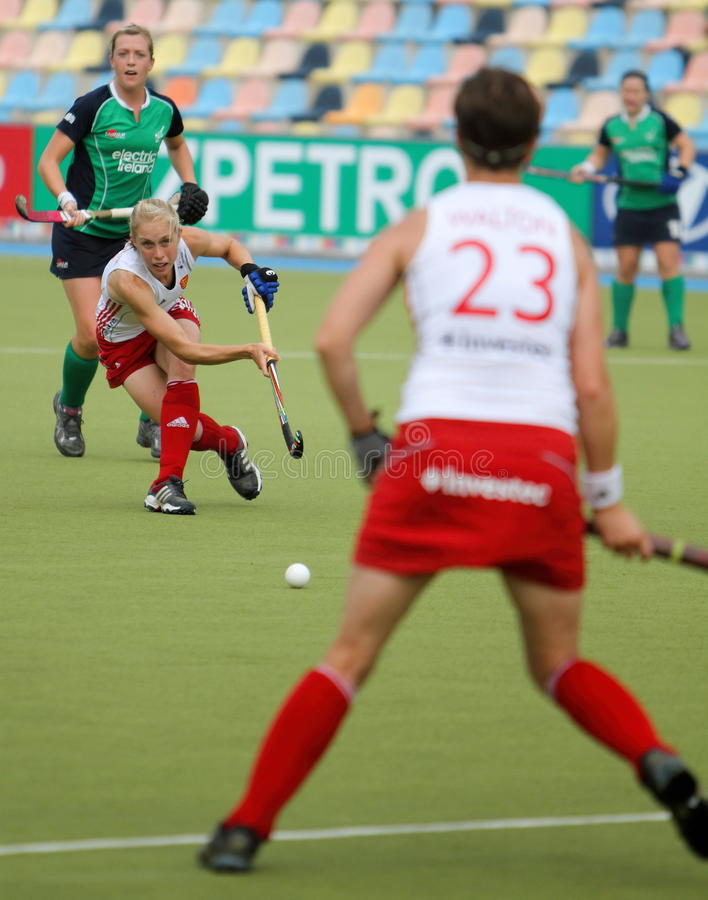Download England V Ireland.Hockey European Cup Germany 2011 Editorial Stock Photo - Image of pass, 2012: 20851123