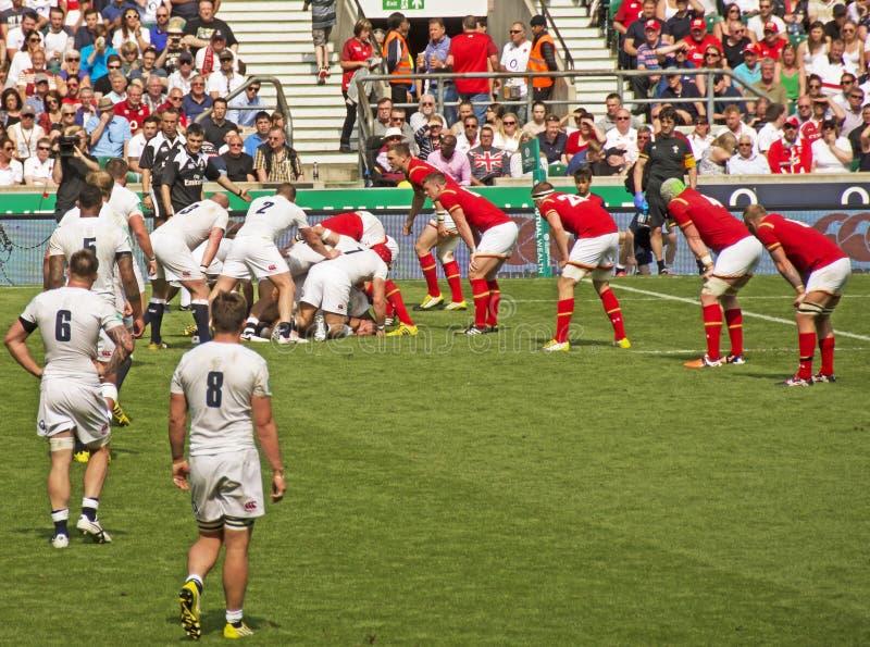 England V Wales rugbyunion på Twickenham arkivbilder