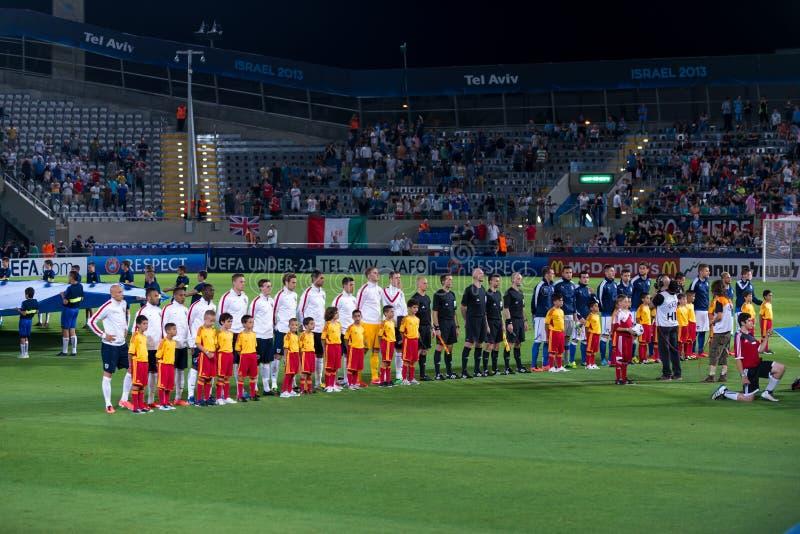 England vs Italy stock image