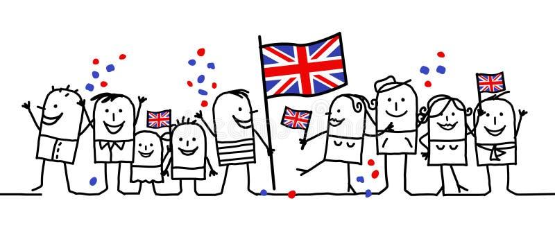 england wakacje obywatel ilustracji