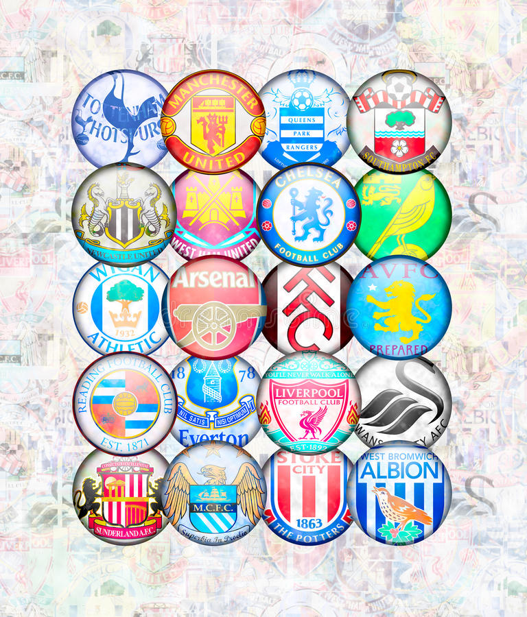 Englische erste League 2012/13 vektor abbildung
